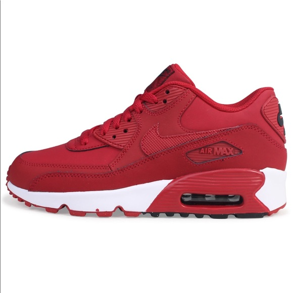 buy popular 801f4 1bf10 NIKE AIR MAX 90 LTR GYM RED SHOES LEATHER